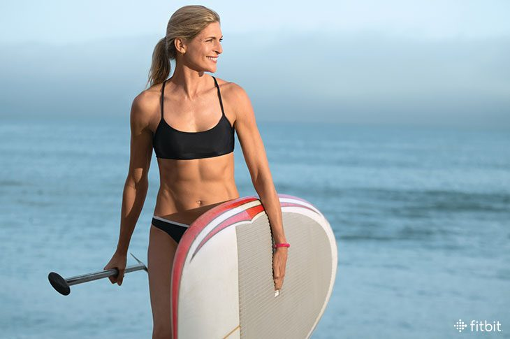 Gabby Reece explains how to paddle board