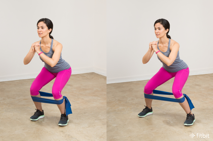 Resistance Band Exercises: Lateral Step