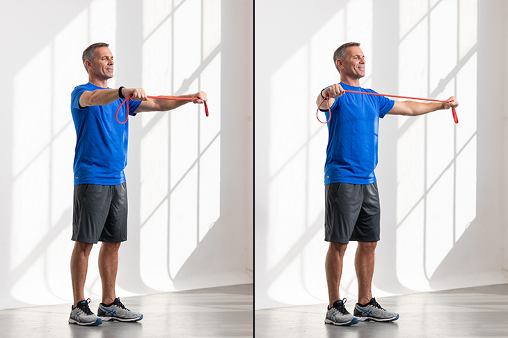Turn Your Walk Into A Resistance Band Workout Fitbit Blog