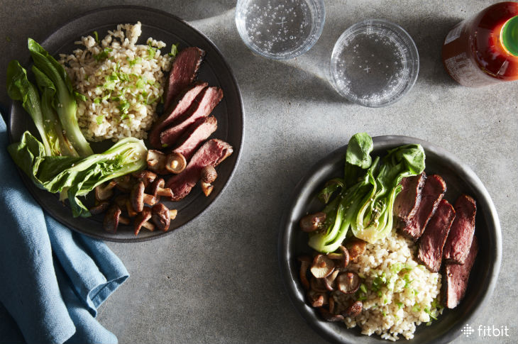 Healthy Recipe: Teriyaki Steak with Bok Choy & Baby Shiitakes